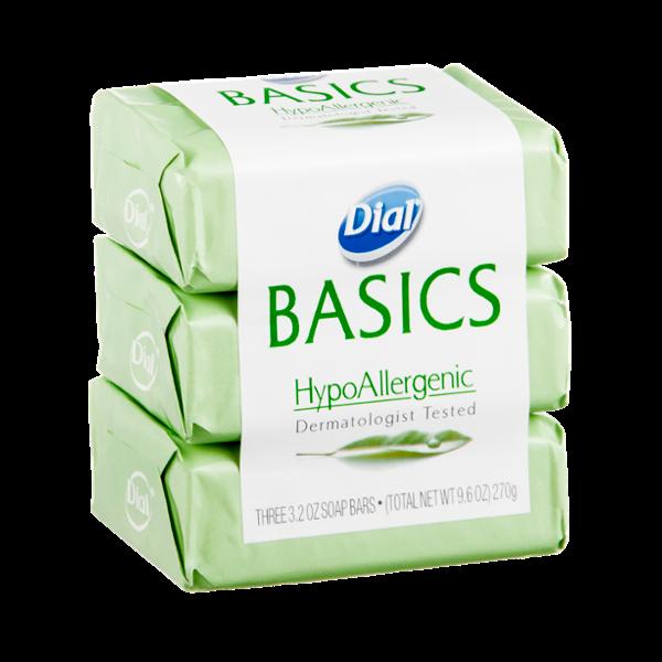 Dial® Basics HypoAllergenic Soap Bars