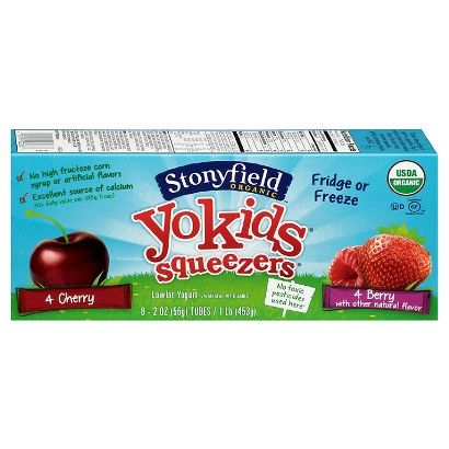 Stonyfield YoKids Squeezers Organic Yogurt 8 ct