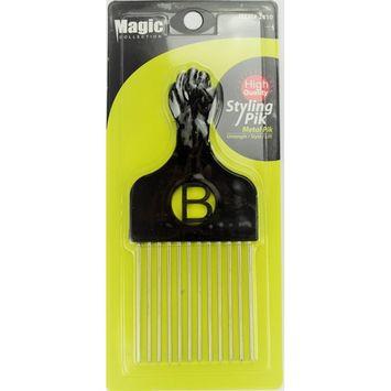 Pro Grade Magic High Quality Hair Pick Afro Pick Styling Pik Metal Pik (Pack of 1) 6.65 Inch