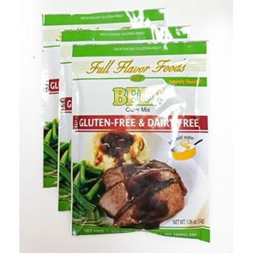 Full Flavor Foods Beef Gluten-Free Gravy Mix pack of 3