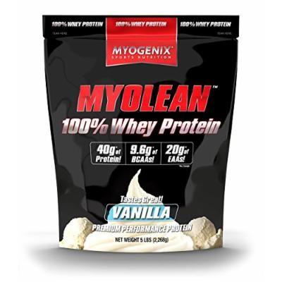 Myogenix 100% Whey Protein Powder, Vanilla, 5 Pound