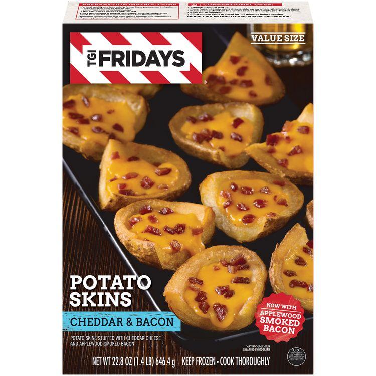 TGIF Cheddar & Bacon Potato Skins