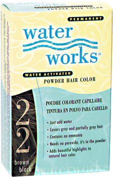 Water Works Permanent Powder Hair Color Brown Black