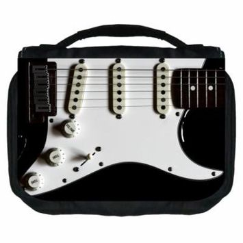 Electric Guitar Small Travel Toiletry / Cosmetic Case with 3 Compartments and Detachable Hanger