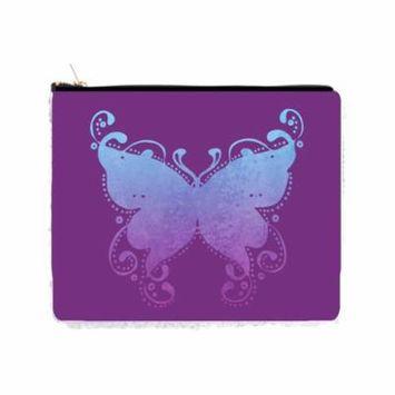 Purple Grunge Butterfly - 2 Sided 6.5
