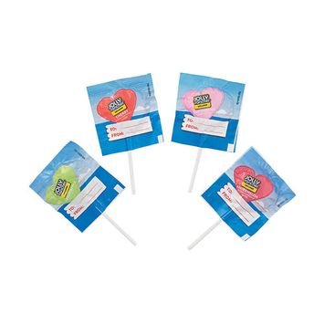IN-13818584 Jolly Rancher Valentine's Day Exchange Lollipops By Fun Express