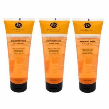 Pack of Three (3) Paul Brown Hawaii Kuki Sport Washe Hair & Body Shampoo