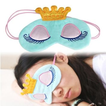 Fabal Cute Eyes Cover Crown Style Travel Sleeping Blindfold Shade Eye Mask