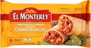 El Monterey® Beef Bean & Cheese Chimichangas 8 ct Bag
