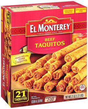 El Monterey® Beef Taquitos 21 ct Box