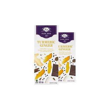 Vosges Haut-Chocolat Turmeric Ginger Chocolate, Pack of 2, 3oz Bars [Turmeric Ginger Chocolate]