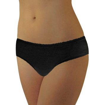 WOMENS DISPOSABLE 100% COTTON UNDERWEAR - FOR TRAVEL- HOSPITAL STAYS- EMERGENCIES 10-PACK