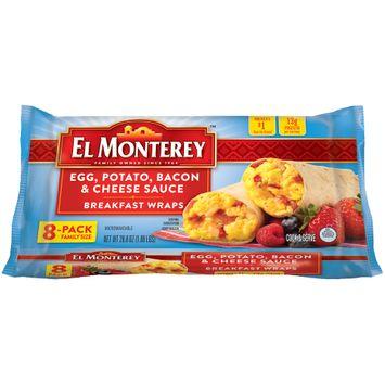 El Monterey™ Egg, Potato, Bacon & Cheese Sauce Breakfast Wraps