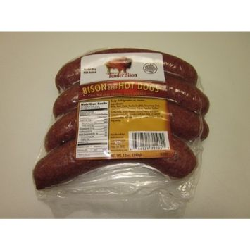 Bison Hot Dogs w/beef (6 Packs of 4)