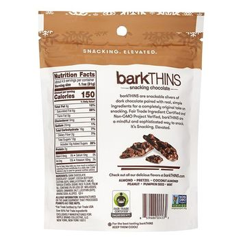 BarkThins Snacking Dark Chocolate, Gingerbread, 4.7 Ounces Bag (Pack of 2)