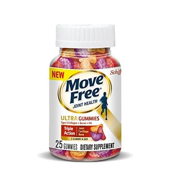 Move Free Ultra Triple Action Gummies, 25 count - Joint Health Supplement with Type II Collagen, Boron and Hyaluronic Acid