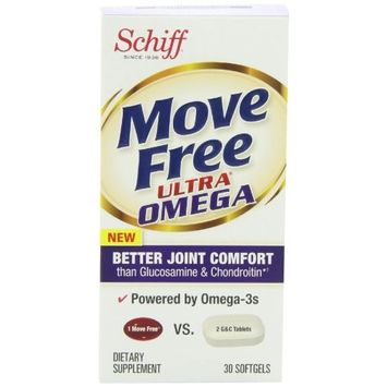 Move Free Ultra Omega, 30 softgels - Joint Health Supplement with Omega-3 Krill Oil and Hyaluronic Acid