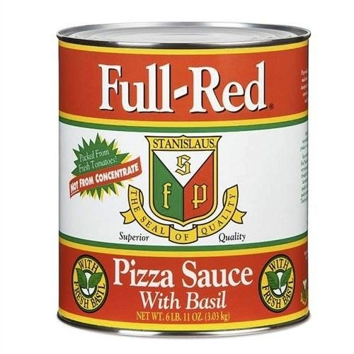 Full Red Pizza Sauce With Fresh Basil #10 - 6L B 11 OZ (6.69 LBS) - (Case of 6)