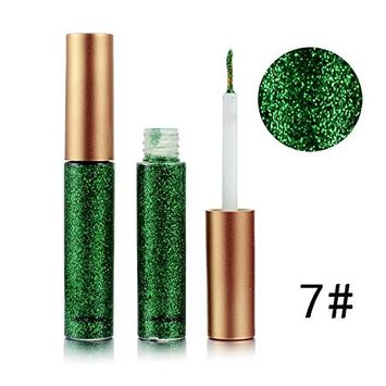 Glitter Liquid Eyeliner Doinshop Waterproof Metallic Shiny Smoky Eyes Eyeshadow(G#)