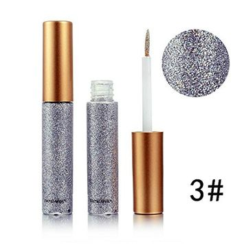 Glitter Liquid Eyeliner Doinshop Waterproof Metallic Shiny Smoky Eyes Eyeshadow(C#)