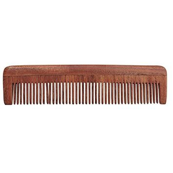 Pure Neem Wood Fine Tooth Comb for Fine Hair | Fine Tooth Neem Comb | Organic and Natural for Hair and Scalp Health