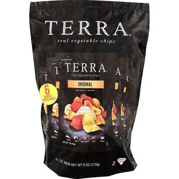 TERRA Vegetable Chips, Original, 1 Ounce Bag (Pack of 6)