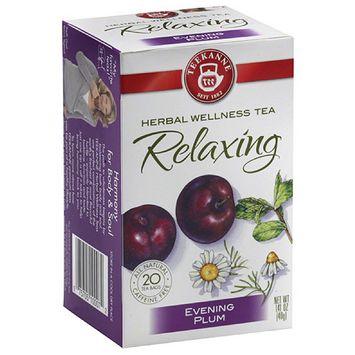 Teekanne Relaxing Evening Plum Herbal Wellness Tea Bags, 1.41 oz, (Pack of 6)
