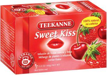 Teekanne Sweet Kiss Cherry-Strawberry Flavored Fruit Infusion Tea Tea Bags 20 Ct Box