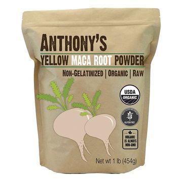 Anthony's Organic Yellow Maca Root Powder (1lb), Raw, Gluten-Free & Non-GMO (Non-Gelatinized)
