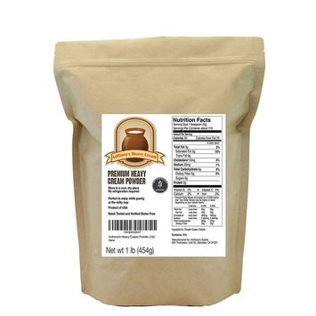 Anthony's Heavy Cream Powder (1lb), Batch Tested Gluten-Free, Made in USA, No Fillers or Preservatives