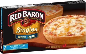 Red Baron® Singles Deep Dish 4 Cheese Pizzas