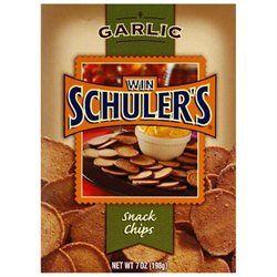 WIN SCHULER 2413 WIN SCHULER CHIP SNCK GARLIC - Case of 12 - 7 OZ