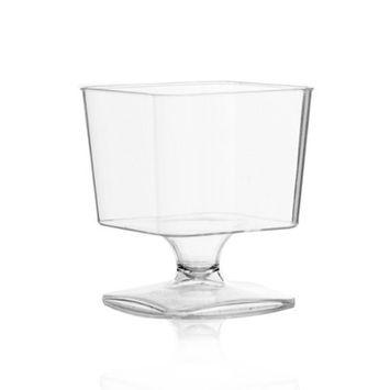 2 oz Square Plastic Mousse Cups 10 Count