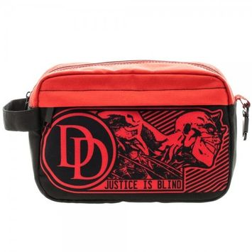 Travel Kit - Marvel - Daredevil Red/Black Dopp Bag New Toys Licensed ta3hh6mve