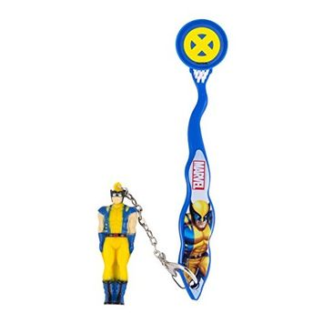 Marvel Smileguard Travel Toothbrush with Cover and Keychain for Kids, Wolverine, 1-Pack