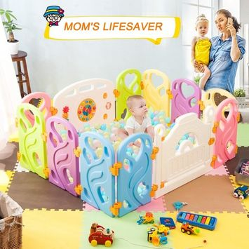 Harper&Bright Designs DreamHouse Kiddie Playpen Home Baby Safety Playards (Classic Style)
