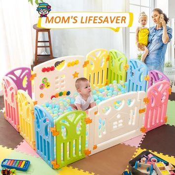 Harper&Bright Designs DreamHouse Kiddie Playpen Home Baby Safety Playards (Butterfly Style)
