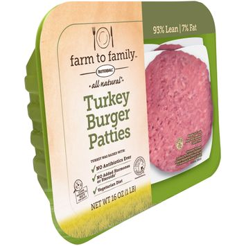 Butterball® Farm to Family™ all Natural Turkey Burger Patties