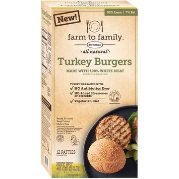 Farm to Family™ All Natural* Turkey Burgers