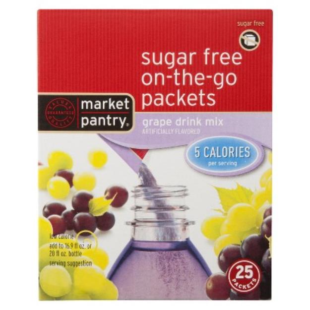 Market Pantry Sugar-Free Grape Drink Mix Packets 25-ct.