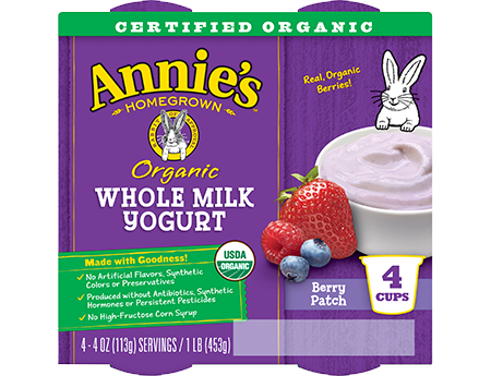 Annie's® Berry Patch Organic Whole Milk Yogurt