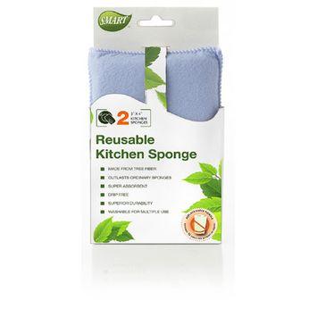 Natural Home Products 2 pk Kitchen Sponge, Blue
