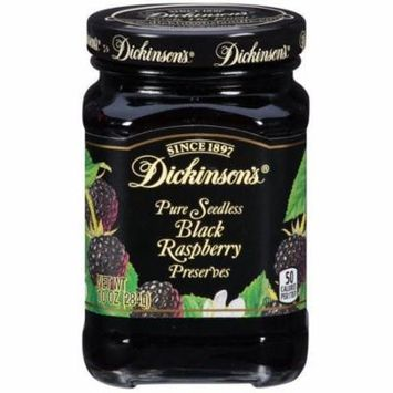 Dickinson's Pure Seedless Black Raspberry Preserves 10 Oz (Pack of 6)