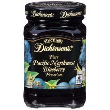 Dickinson's Pure Pacific Northwest Blueberry Preserves 10 Oz (Pack of 6)