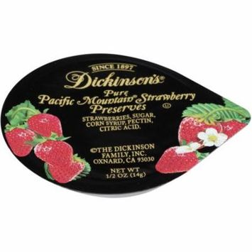 Dickinson Strawberry Preserves Plastic Portion Control, .5 Ounce (200 Pack)