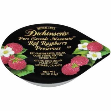 Dickinson Red Raspberry Preserves Plastic Portion Control, .5 Ounce (200 Pack)