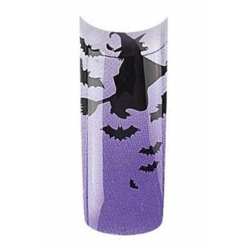 Bundle 2 Items : Cala Premium Airbrushed Nail Tips (87-737) - 70pcs Purple + A-viva Jojoba Cuticle Oil