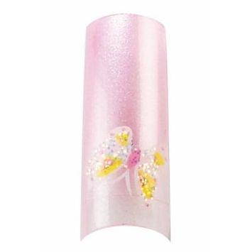 Bundle 2 Items : Cala Premium Airbrushed Nail Tips (87-766) - 70pcs + Jojoba Cuticle Oil