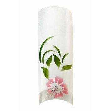 Bundle 2 Items : Cala Premium Airbrushed Nail Tips (87-775) - 70pcs + A-viva Jojoba Cuticle Oil