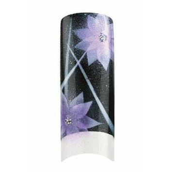 Bundle 2 Items : Cala Premium Airbrushed Nail Tips (87-756) - 70pcs + A-viva Jojoba Cuticle Oil